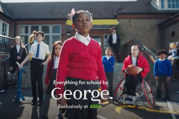 George at Asda: ad features squad of lively school children