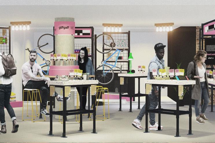 Giffgaff: eco pop-up will promote refurbished handsets