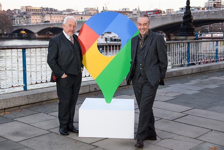 Google Pixel: actors Simon Callow (left) and John Hannah