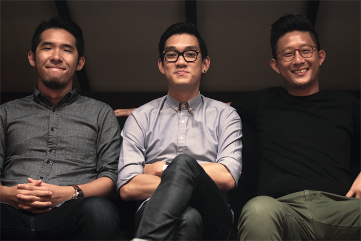 "(l-r) Aaron Koh, Tim Chan and Leon Lai: ""A balance of freedom and fear keeps us going"""