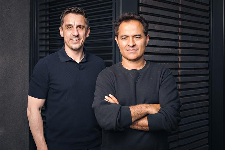 Miroma SET: Gary Neville (left) and Marc Boyan