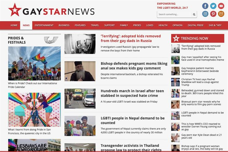 Gay Star News: founded in 2012