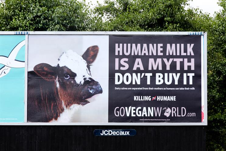 The posters featured potentially uncomfortable facts about animal farming