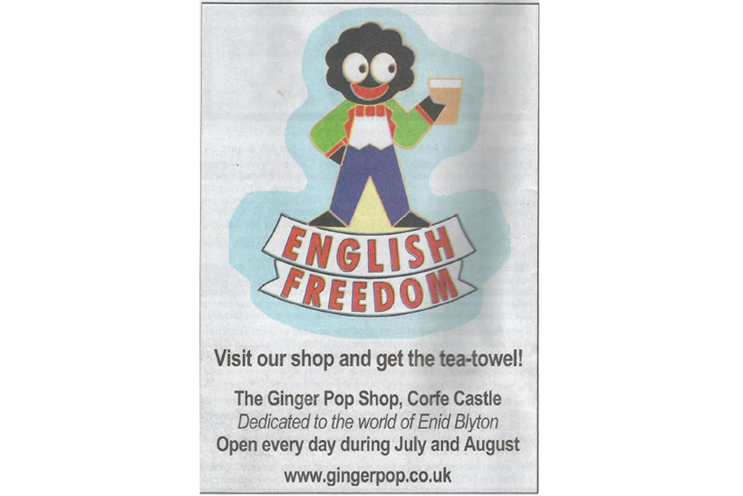 Dorset shop rapped by ASA over 'racist' golliwog newspaper ad