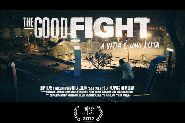 Mother-backed film tells hopeful story of boxer giving back in Rio favela