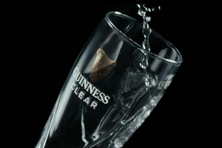 Guinness: spoof ad for 'Guinness Clear' encouraged drinking of water