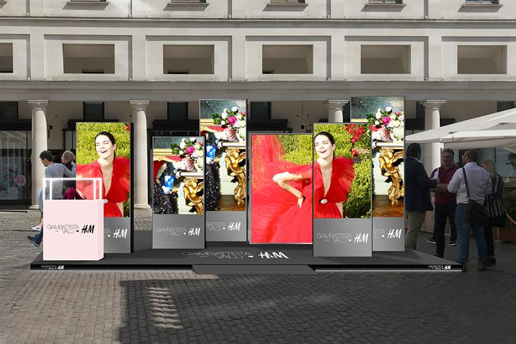 H&M: displaying images from the latest campaign