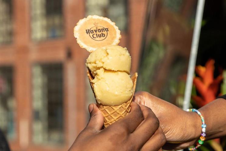Havana Club: the ice cream is designed to taste like a creamy rum cocktail