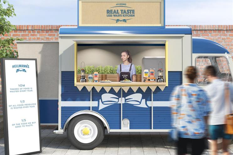 Hellmann's: experiential campaign highlighted food waste