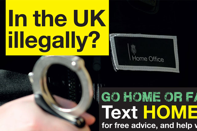 Home Office: 'go home or face arrest' campaign