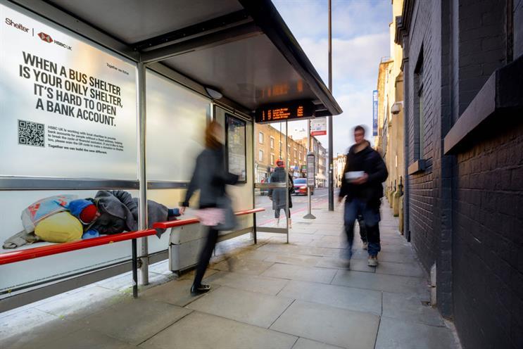 "2021 Outdoor Media Awards Grand Prix winner: HSBC UK & Shelter's ""Addressing the 'No Fixed Address' problem"" by Talon Outdoor / PHD / Wunderman Thompson UK"