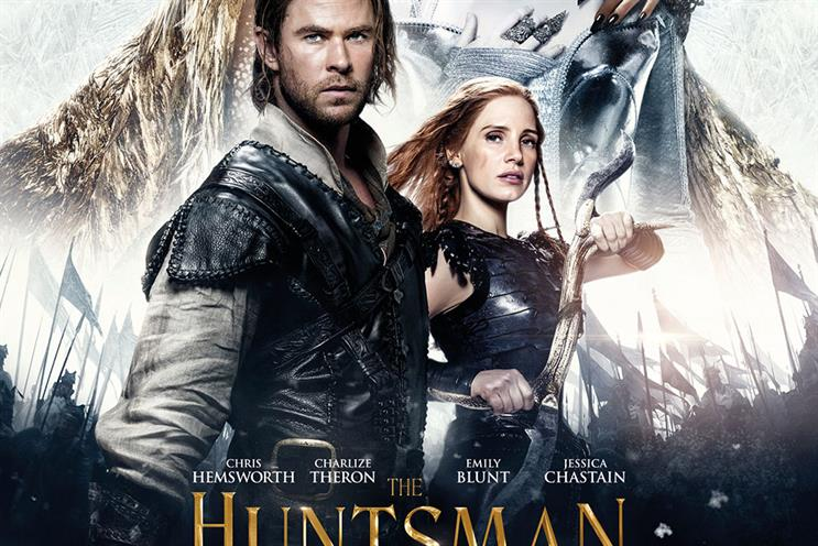Universal is using the feature to promote The Huntsman: Winter's War