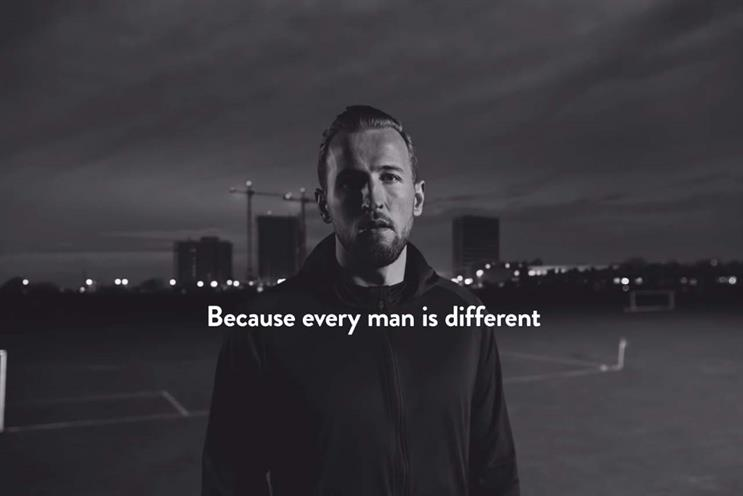 Harry's: created ad featuring England captain Harry Kane