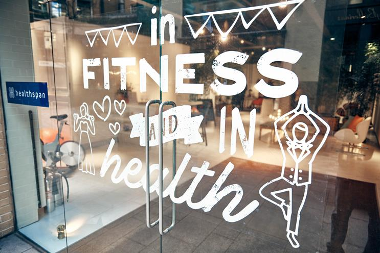 Supplements brand Healthspan's pop-up aims to get people fit for their wedding