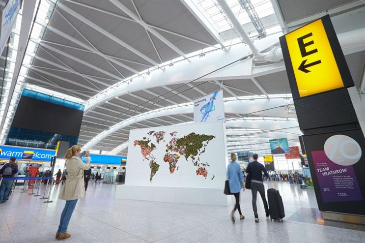 Heathrow Airport: flower fragrance map of the world