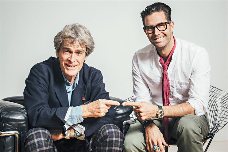Sir John Hegarty (left) and Pelle Sjoenell
