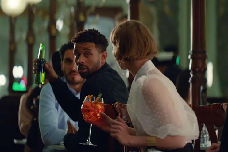 Heineken: ahem… the Aperol Spritz is actually for the gentleman