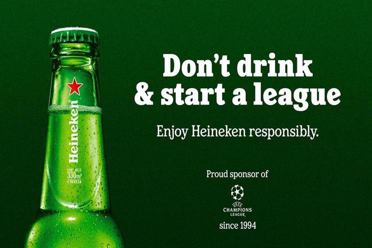 Heineken: tactical nous from the long-running Champions League sponsor