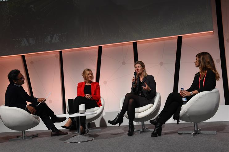 From left: Harjot Singh, CSO, McCann Worldgroup Europe (host); Marina Specht, CEO MRM//McCann, McCann Worldgroup Spain; Monika Schulze, global head of digital, Zurich; Elena Alti, head of digital marketing, Santander