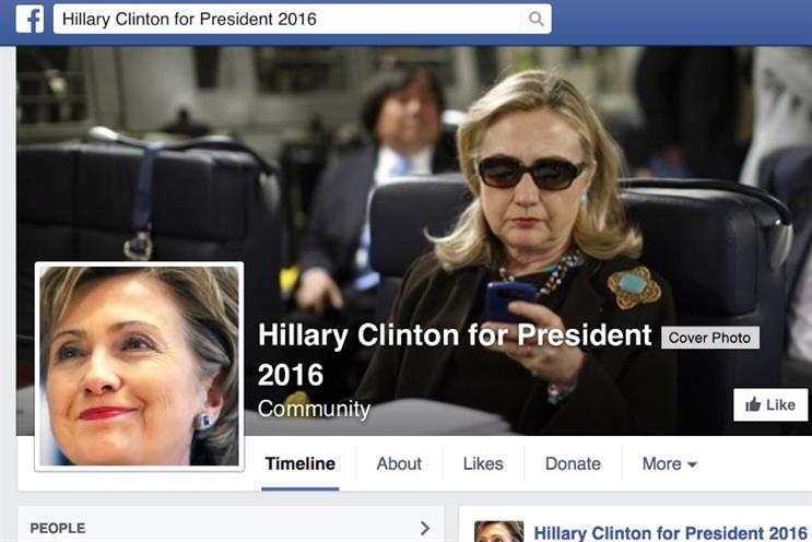 Hillary Clinton for President Facebook page: garnered 1,773,391 in first 10 hours of going live