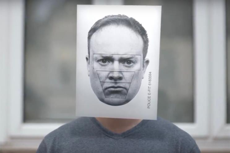 Home Office: campaign replaces perpetrators' faces with e-fit composites