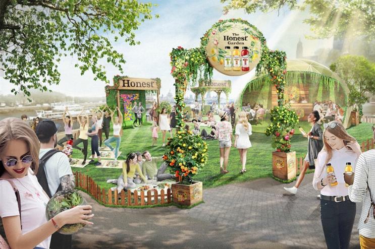 Honest to launch pop-up garden