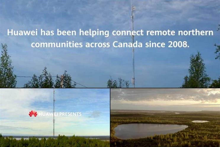 Huawei: one key activity in Canada is 'Connect the north' project
