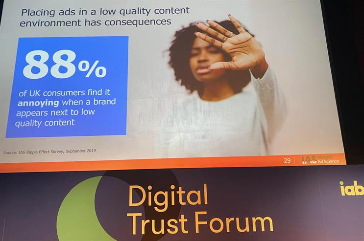 Trust Forum: IAS quoted last year's IAB 'Ripple Effect' study