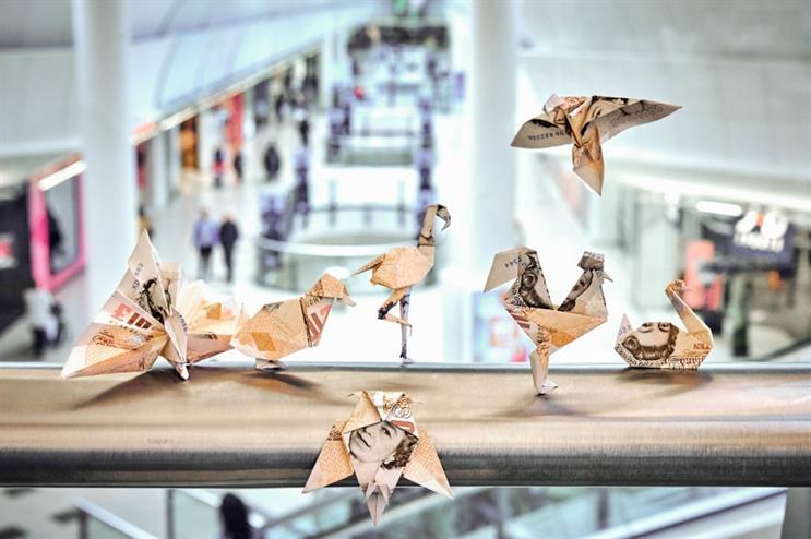 Intu releases 'Money Birds' into UK shopping centres