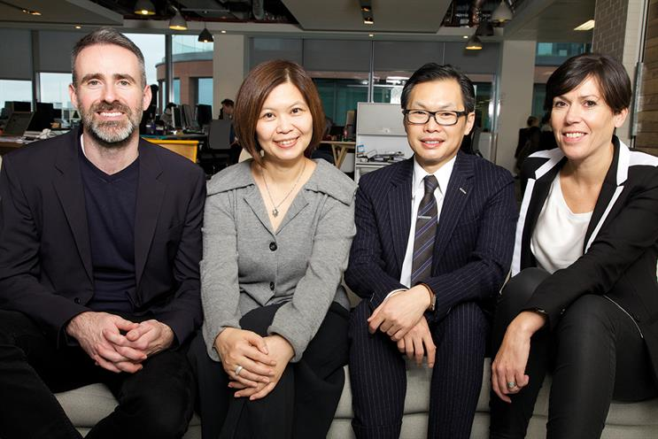 Bailey, Lin, Moy and De Groose (l-r): bringing the Isobar agencies closer together