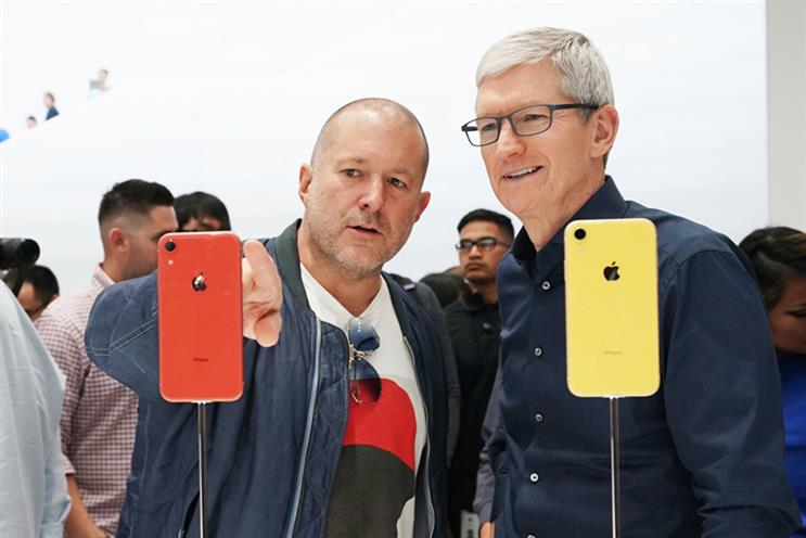 Ive (left) with Apple chief executive Tim Cook
