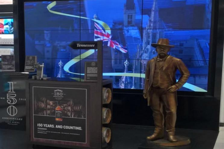 Jack Daniel's: marking anniversary at London Luton Airport