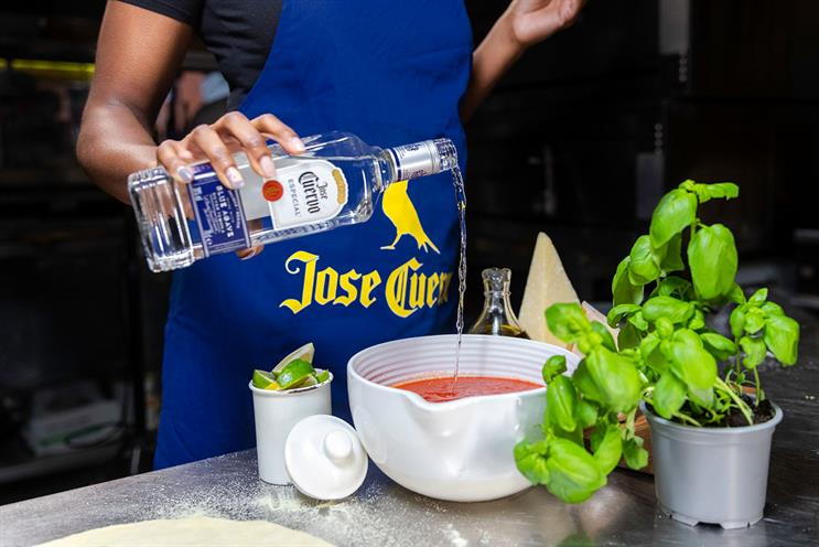 Jose Cuervo: partnered vendors will deliver the fresh pizzas