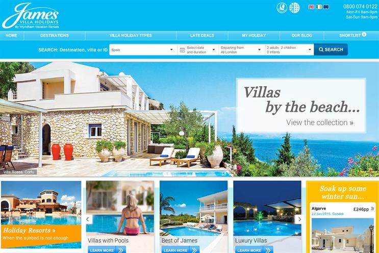 James Villa Holidays: hands media account to the7stars