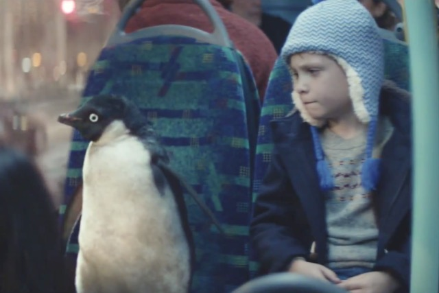 John Lewis: its latest Christmas ad features a boy and Monty the penguin