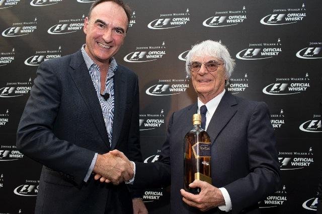 Partnership: Nick Blazquez of Diageo and Bernie Ecclestone of Formula 1