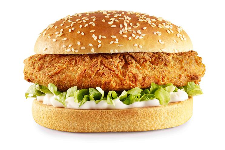 KFC: the vegan Imposter burger is made from a Quorn fillet