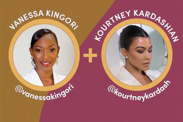 #ShareTheMicUK: Kingori posted to Kardashian's 102 million followers