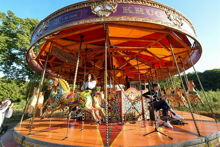 Krug: fairground-style design