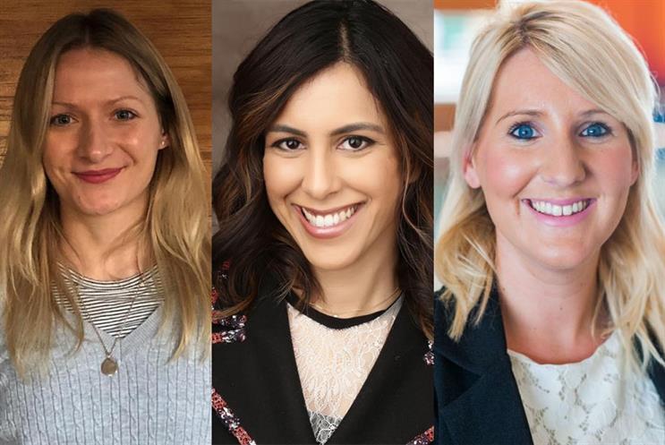 From left: Kate Dobinson, Priya Radosevic and Sarah Alderson from Sage's digital marketing team