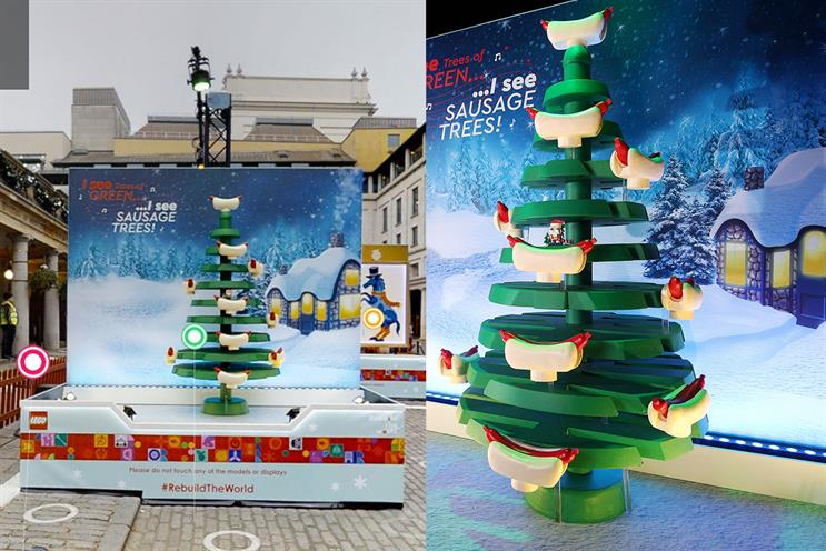 Lego: Christmas activation takes place online and in Covent Garden