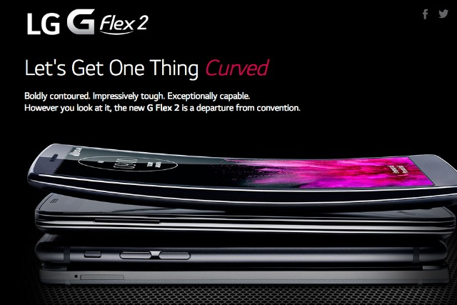 LG: unveils 'self healing' G Flex 2 smartphone
