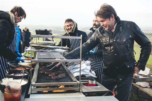 The 'Land Rover burger' featured on James Martin's bespoke menu