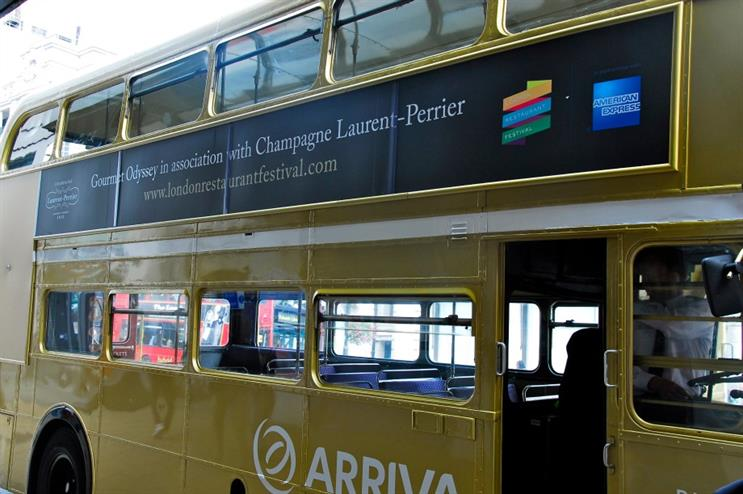 The branded bus will transport guests to each venue