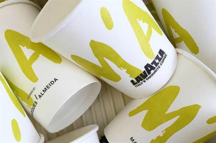 The bespoke coffee cups will be used throughout LFW (@_MARQUESALMEIDA)