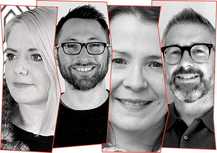 Leadership team from left to right: Laura Jordan Bambach, Jonny Tennant-Price, Raquel Chicourel, Nathan Gainford.