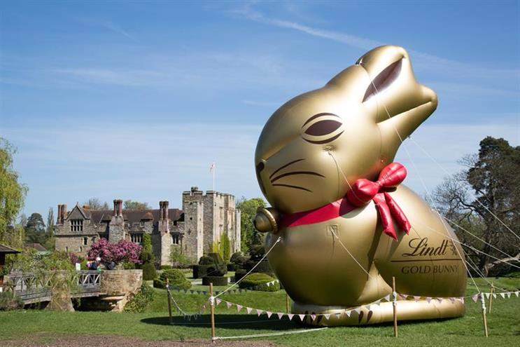 Lindt: well known for its gold foil-wrapped Easter bunny (photo from a 2016 experience)