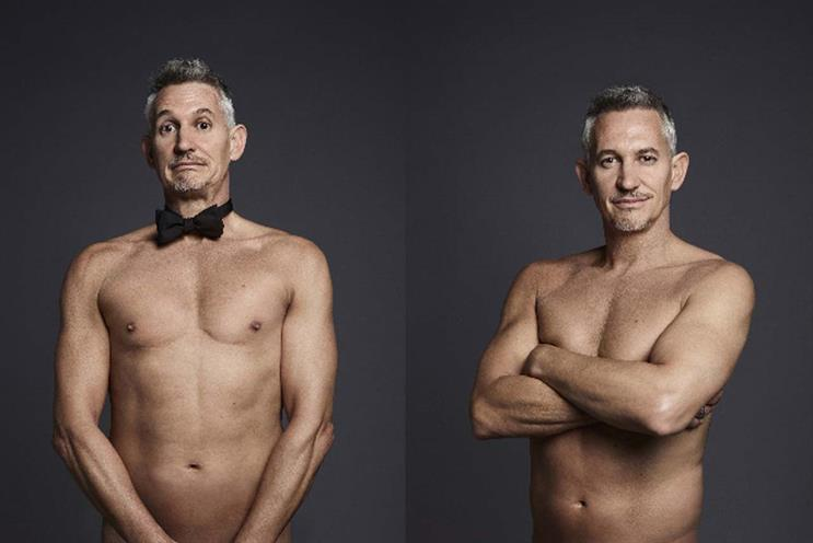 Gary Lineker pops up naked in mystery ad campaign