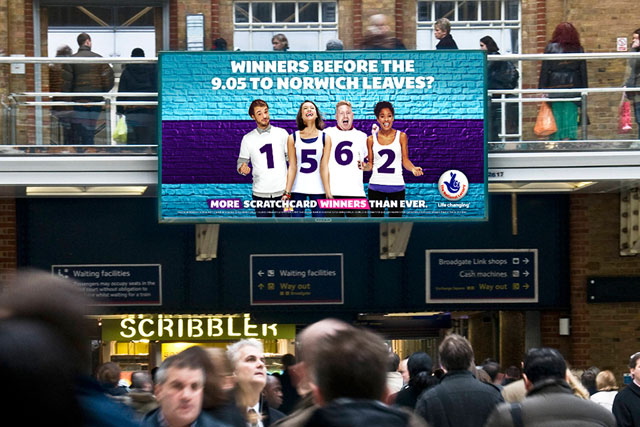 National Lottery syncs real-time campaign to train timetables