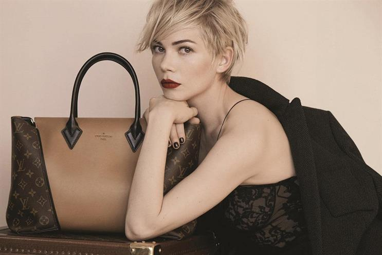 Louis Vuitton: recent campaign features actress Michelle Williams